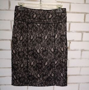 H&M Black Lace Skirt